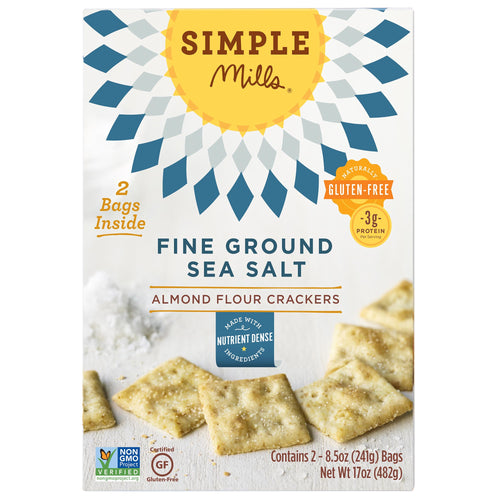 Simple Mills Almond Flour Sea Salt Crackers, 8.5 oz., 2-count