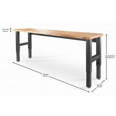 2 of 4 images - Adjustable Height 8 ft. (244 cm) Hardwood Workbench (thumbnails)
