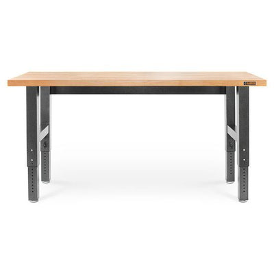 1 of 5 images - 6' (182.9 cm) Wide Adjustable Height Hardwood Workbench (thumbnails)