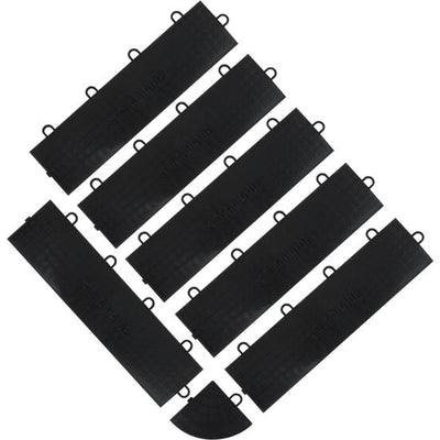 1 of 4 images - Gladiator® Black Floor Edge Trim - Female (6 Pack + 1 Corner) (thumbnails)