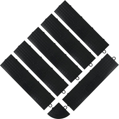 1 of 4 images - Gladiator® Black Floor Edge Trim - Male (6 Pack + 1 Corner) (thumbnails)