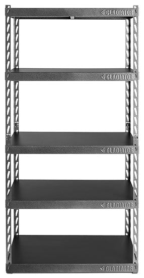 "1 of 4 images - Gladiator® 36"" (76.2 cm) Wide EZ Connect Rack with Five 18"" (45.7 cm) Deep Shelves (thumbnails)"