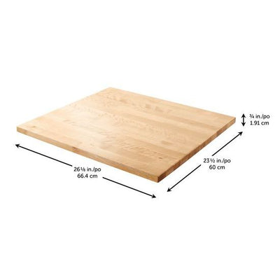 "2 of 4 images - Gladiator® 27"" (68.6 cm) Hardwood Top (thumbnails)"