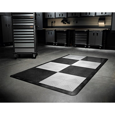 3 of 4 images - Gladiator® Black Floor Edge Trim - Female (6 Pack + 1 Corner) (thumbnails)
