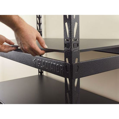 "3 of 4 images - Gladiator® 48"" (121.9 cm) Wide EZ Connect Rack with Five 24"" (61 cm) Deep Shelves (thumbnails)"