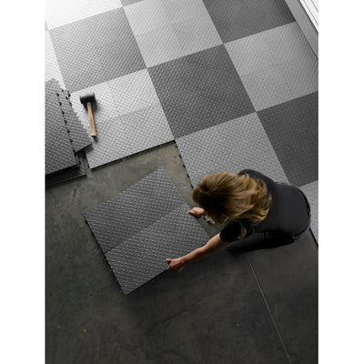 4 of 4 images - Gladiator® Black Floor Edge Trim - Female (6 Pack + 1 Corner) (thumbnails)