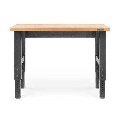 1 of 4 images - 4' (121.9 cm) Wide Adjustable Height Hardwood Workbench (thumbnails)