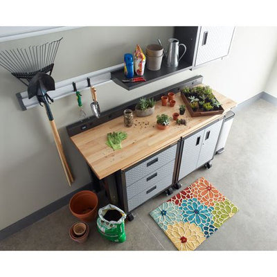 4 of 4 images - Adjustable Height 6 ft. (183 cm) Hardwood Workbench (thumbnails)
