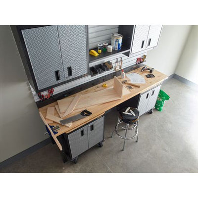 4 of 4 images - Adjustable Height 8 ft. (244 cm) Hardwood Workbench (thumbnails)