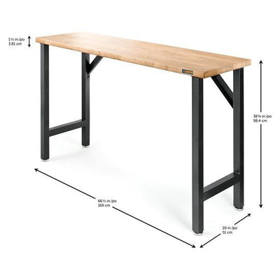 "2 of 4 images - Gladiator® 66-1/2"" (169 cm) Wide Hardwood Modular Workbench (thumbnails)"