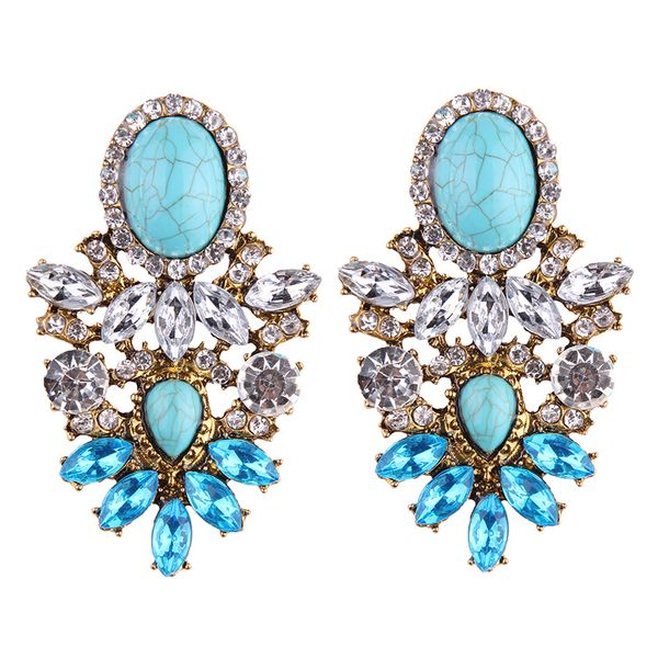 Sky Bleu Faux Gem Earrings
