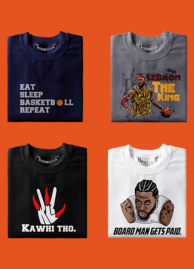 Basketball T-Shirts, Hoodies & Tops