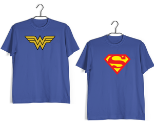 RELATIONSHIPS Matching Couples Wonder women Superman T-Shirts for Boyfriend Girlfriend Fiance Husband Wife Mother Father Family - Aaramkhor