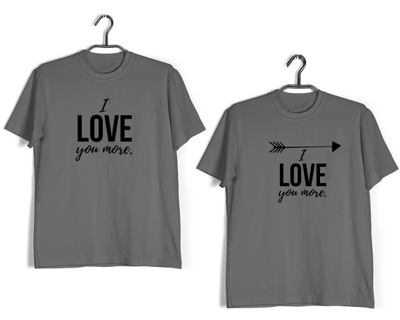 RELATIONSHIPS Matching Couples I LOVE YOU MORE T-Shirts for Boyfriend Girlfriend Fiance Husband Wife Mother Father Family - Aaramkhor