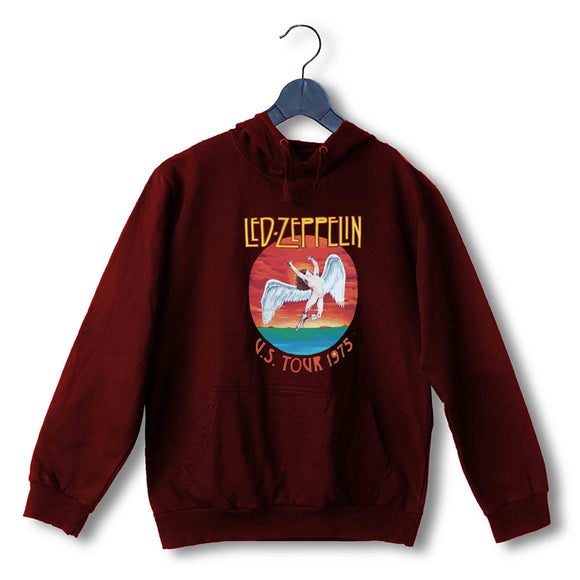 Led Zeppelin Music Led Zeppelin Led Zepplin - us tour 1975 UNISEX HOODIE Sweatshirts - Aaramkhor