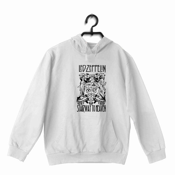 Led Zeppelin Music Led Zeppelin Stairway to heaven with logo UNISEX HOODIE Sweatshirts - Aaramkhor