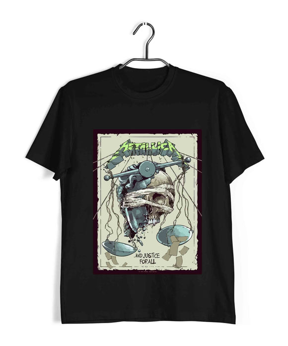MUSIC Metallica - Justice for All Custom Printed Graphic Design T-Shirt for Men - Aaramkhor