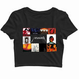 MUSIC Metallica Mettalica all albums Custom Printed Graphic Design Crop Top T-Shirt for Women - Aaramkhor