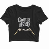 MUSIC Metallica Guitar Hero Custom Printed Graphic Design Crop Top T-Shirt for Women - Aaramkhor
