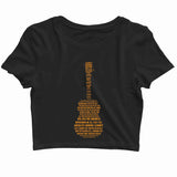 MUSIC Metallica Mettalica Guitar letters Custom Printed Graphic Design Crop Top T-Shirt for Women - Aaramkhor
