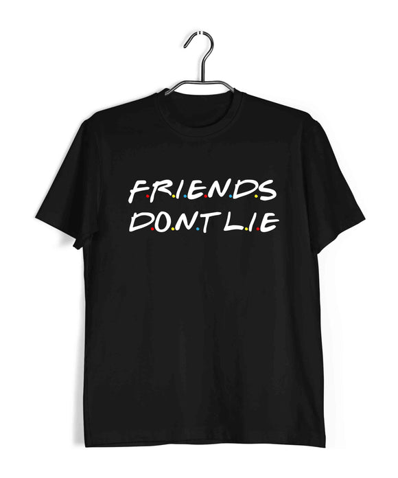 TV SERIES Stranger Things Friends dont lie Custom Printed Graphic Design T-Shirt for Women - Aaramkhor
