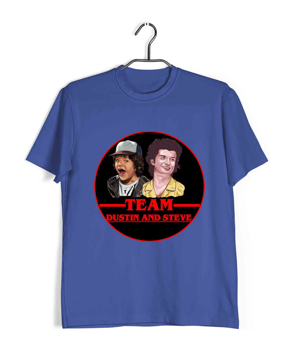 TV SERIES Stranger Things Team dustin and steve Custom Printed Graphic Design T-Shirt for Women - Aaramkhor