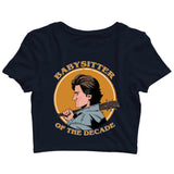 TV SERIES Stranger Things Babysitter STEVE Custom Printed Graphic Design Crop Top T-Shirt for Women - Aaramkhor