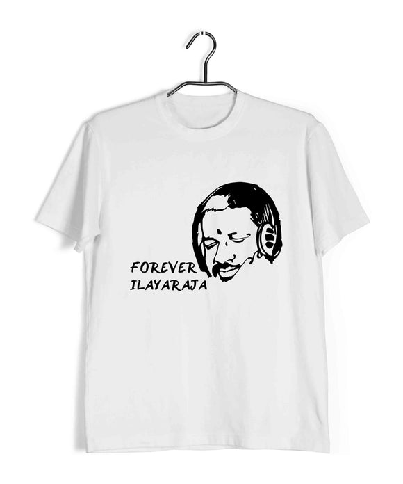 Ilayaraja Tamil Tamil FOREVER ILAYARAJA Custom Printed Graphic Design T-Shirt for Men - Aaramkhor