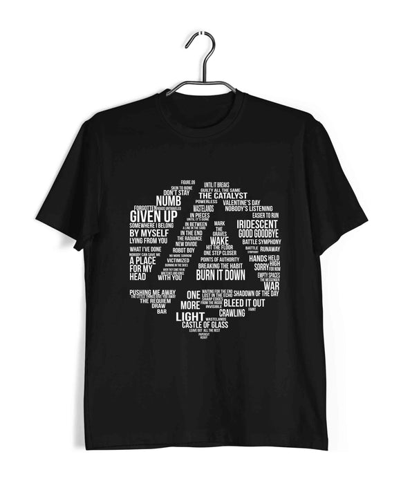Linkin Park Music Linkin Park Linkin Park Logo Songs Custom Printed Graphic Design T-Shirt for Men - Aaramkhor