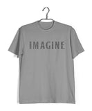 Beatles MUSIC MUSIC IMAGINE WORD ART Custom Printed Graphic Design T-Shirt for Women - Aaramkhor