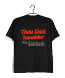 Black Sabbath MUSIC Black Sabbath THOU SHALL REMEMBER THE SABBATH Custom Printed Graphic Design T-Shirt for Men - Aaramkhor