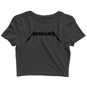 Music Bands METALLICA Custom Printed Graphic Design Crop Top T-Shirt for Women - Aaramkhor