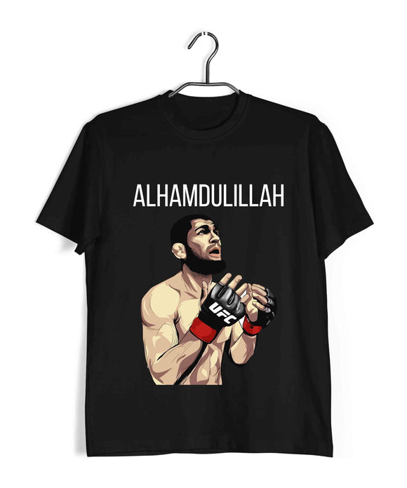UFC MMA MMA MMA KHABIB ALMAHUDULAAH Custom Printed Graphic Design T-Shirt for Men - Aaramkhor