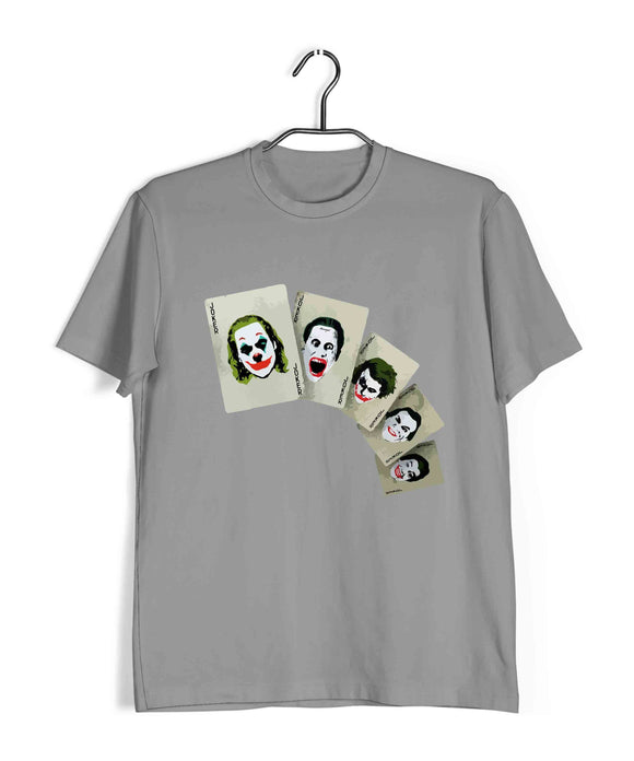 Joker COMICS Joker ALL JOKERS Custom Printed Graphic Design T-Shirt for Men - Aaramkhor