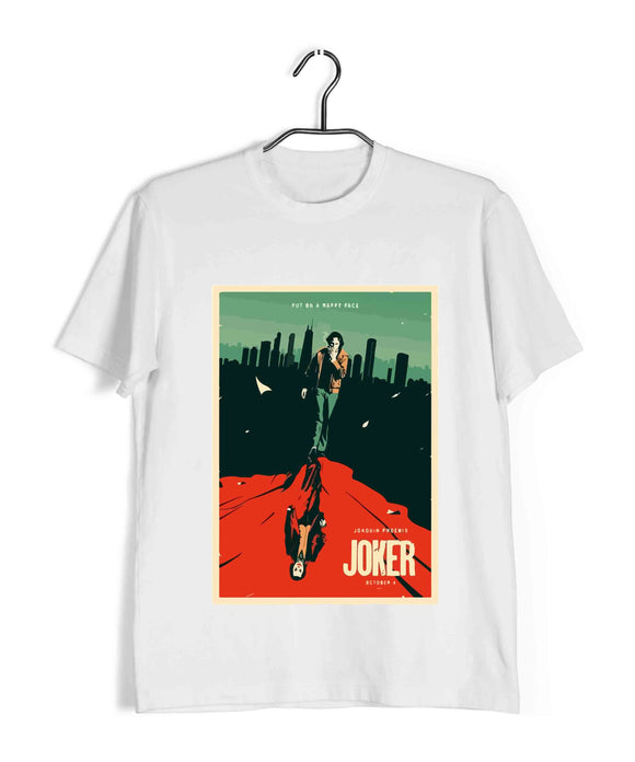 Joker COMICS Joker JOKER POSTER Custom Printed Graphic Design T-Shirt for Men - Aaramkhor