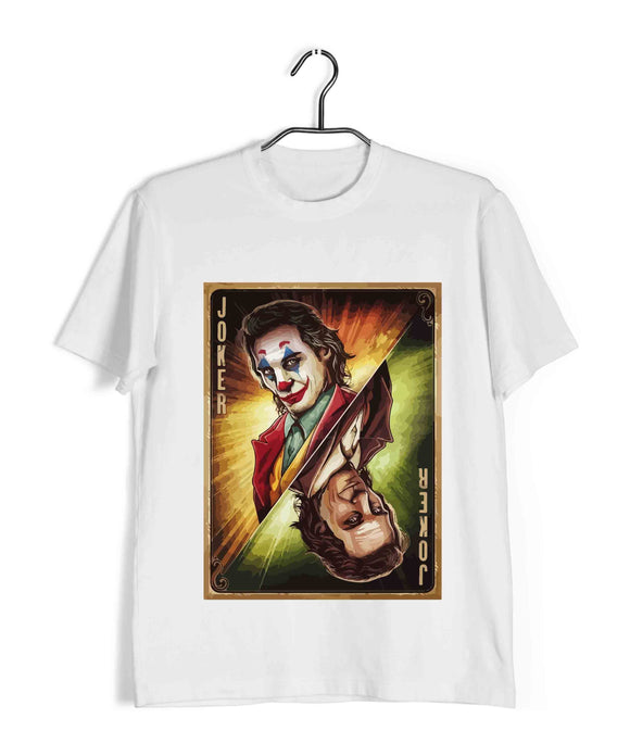 Joker COMICS JOKER JOKER CARD Custom Printed Graphic Design T-Shirt for Men - Aaramkhor