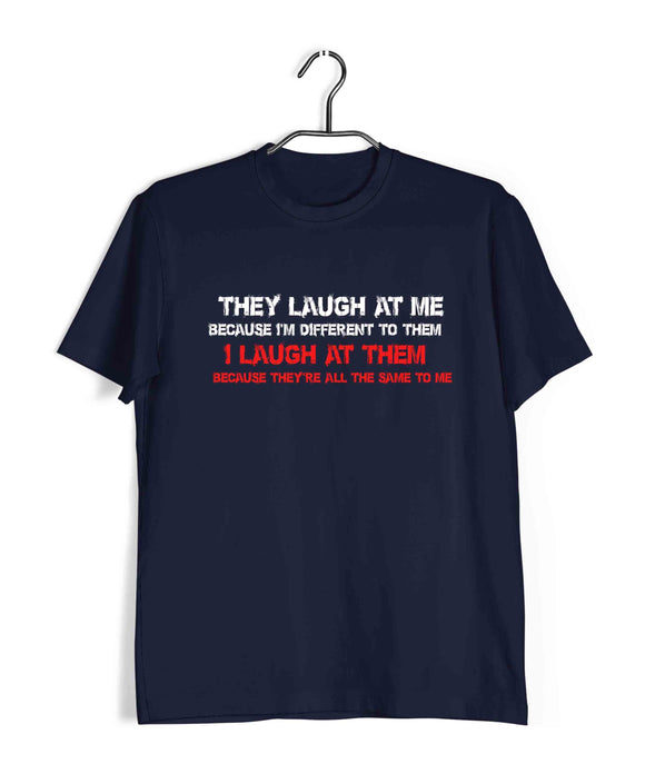 Joker COMICS JOKER I LAUGH AT THEM AS THEY ALL ARE SAME Custom Printed Graphic Design T-Shirt for Men - Aaramkhor