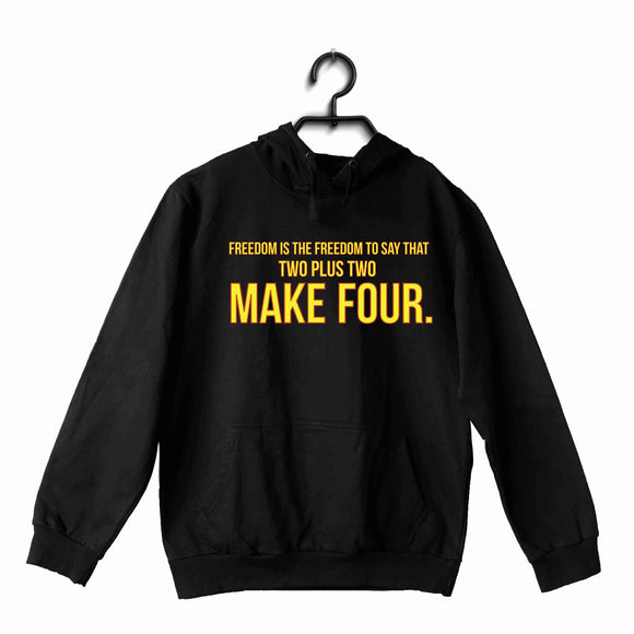 George Orwell Books George Orwell Freedom is the freedom to say that two plus two make four. UNISEX HOODIE Sweatshirts - Aaramkhor