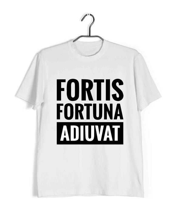 Movies John Wick Fortis fortuna ADIUVAT Custom Printed Graphic Design T-Shirt for Men - Aaramkhor