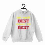 White  Sports Fitness Do your best and Forget the Rest UNISEX HOODIE Sweatshirts