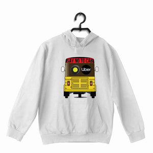 White  Politics Freedom SAY NO TO CAB UNISEX HOODIE Sweatshirts