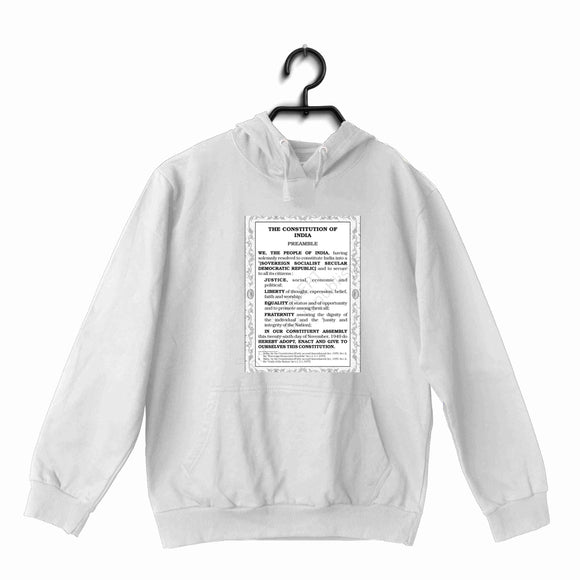 White  Politics Freedom PREAMBLE OF OUR CONSTITUTION UNISEX HOODIE Sweatshirts