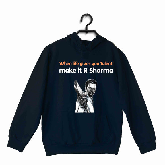 Cricket Team India When life gives you Talent, make it RG Sharma UNISEX HOODIE Sweatshirts - Aaramkhor