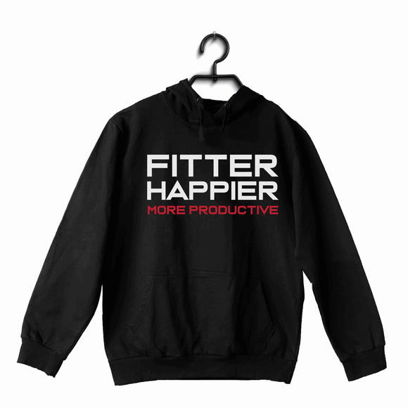 Black  Music Radiohead Fitter Happier More Productive UNISEX HOODIE Sweatshirts