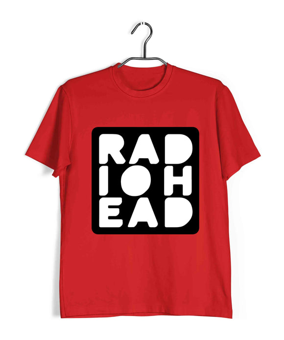 Red  Music Radiohead FAN Logo Custom Printed Graphic Design T-Shirt for Men