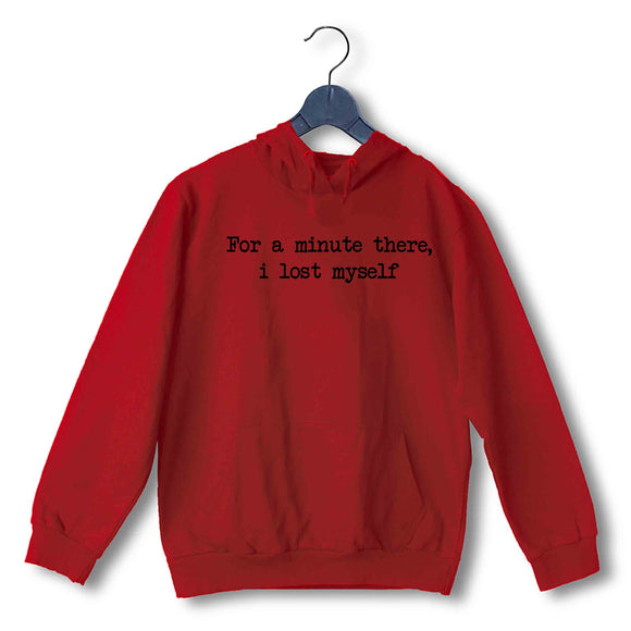 Red  Music Radiohead For a minute there, i lost myself UNISEX HOODIE Sweatshirts