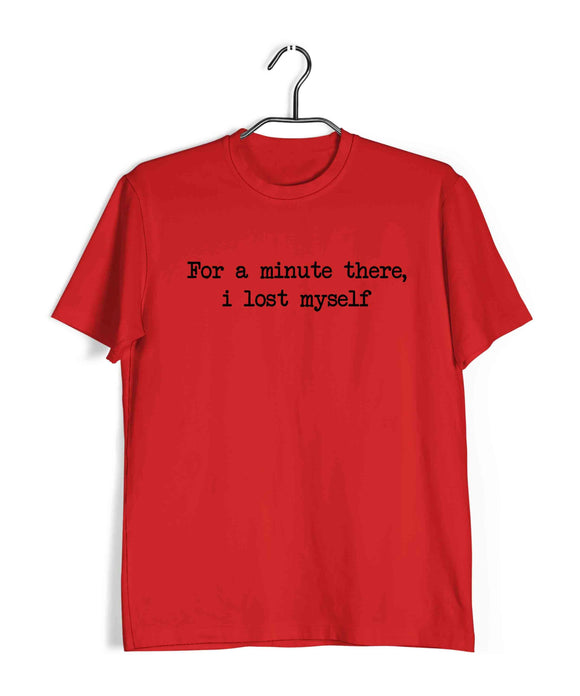 Red  Music Radiohead For a minute there, i lost myself Custom Printed Graphic Design T-Shirt for Men