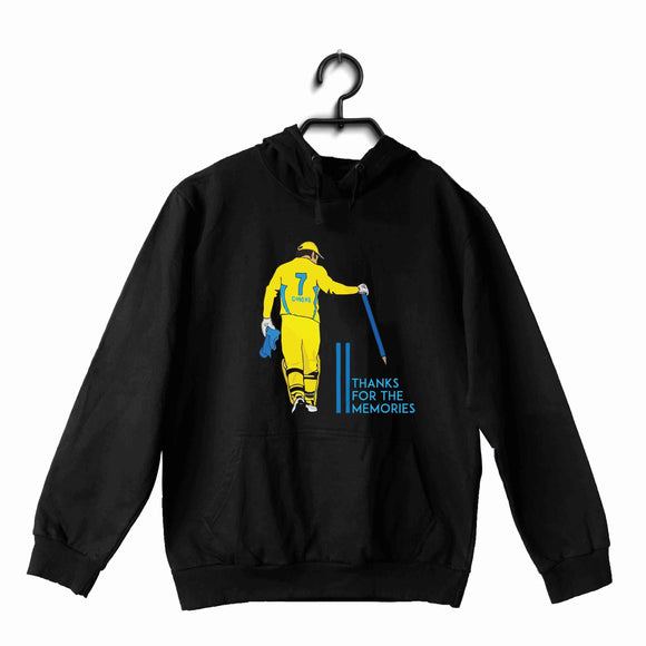 Black  Cricket Cricket Dhoni - thank you for the memories UNISEX HOODIE Sweatshirts