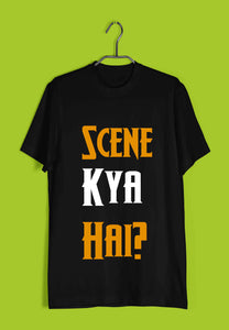 Aaramkhor Specials Funny Swag Scene Kya Hai? Custom Printed Graphic Design T-Shirt for Men - Aaramkhor
