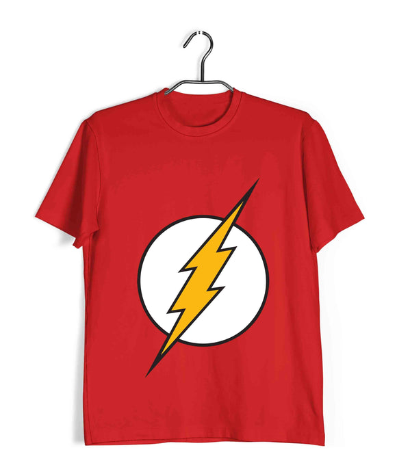 Red  TV Series The Big Bang Theory TBBT THE FLASH RINGER Custom Printed Graphic Design T-Shirt for Men